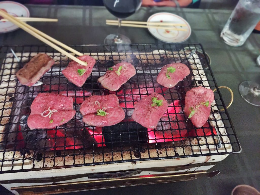 """No longer a secret, """"Secret Beef"""" is a bovine-heavy dining experience that's accessible only by invite. As the name would suggest, beef—like neck sashimi and other prized cuts you grill yourself at the table—is the focus at this husband-and-wife-run BYOB restaurant."""